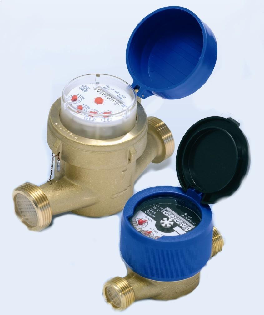 Contadores de agua fr a y caliente chorro unico impulsos - Contador de agua ...
